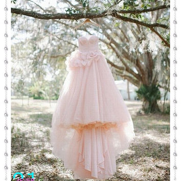 Princess Wedding Dress, Bridal Gown, Pink Wedding Dress, Romantic Organza Wedding Dress, Sweetheart Wedding Dress, Wedding Dress 2014