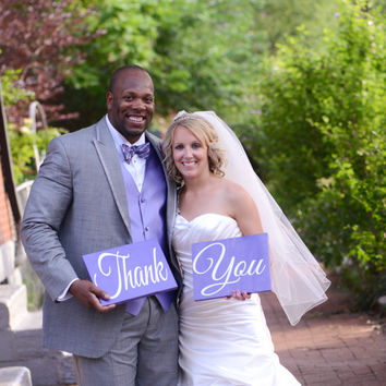 Thank You Signs Engagement Photos, Wedding Photos, Save the Date Wood Signs Photography Props