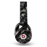 The Black 3D Diamond Surface Beats by Dre Studio Original Headphones Skin