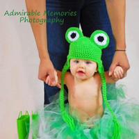 Baby Frog Hat, Newborn Frog Hat, Crochet Frog Hat. Halloween Costume. Toddler Frog Hat, Child Frog Hat. Photo Prop
