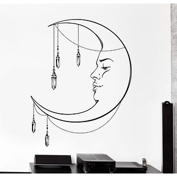 Vinyl Wall Decal Moon Night Romantic Ethnic Cozy Big Home Interior Decor Unique Gift z4452