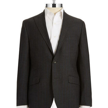Black Brown 1826 Wool Pinstripe Jacket