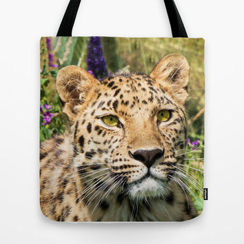 LEOPARD BEAUTY Tote Bag by Catspaws | Society6