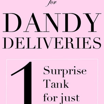 Last Chance Dandy Delivery - One Tank for $9.95