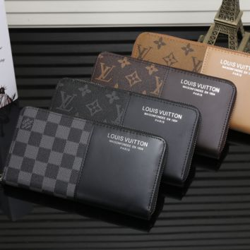 LV Long leather fashion Zipper Wallet [305801592861]
