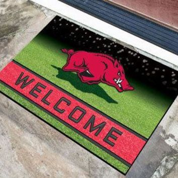Arkansas Razorbacks Door Mat 18x30 Welcome Crumb Rubber