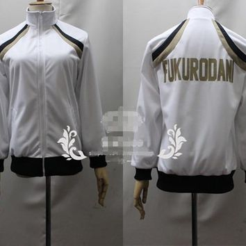 [Customized] Anime Haikyuu Fukurodani Academy Volleyball Team Uniform Cosplay Clinquant Velvet Unisex Coat Free Shipping