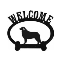 Welcome Bernese Mountain Dog Metal Sign