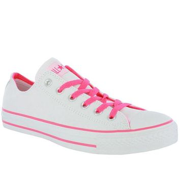 Converse Chuck Taylor Low - White / Pink Neon