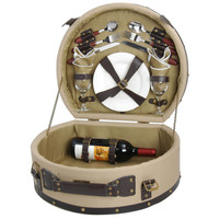 Wooden Picnic Basket for 2 Persons