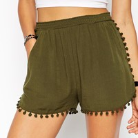 ASOS Pom Pom Trim Detail Short