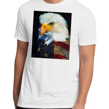 Patriotic Bald Eagle - American Flag Men's Sublimate Tee by TooLoud