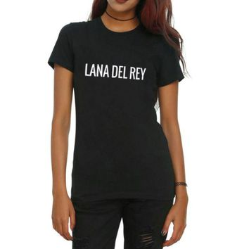 LMFIH3 LANA DEL REY, English alphabet short-sleeved T-shirt fashion men and women with the same paragraph