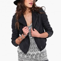 Lang Vegan Leather Jacket