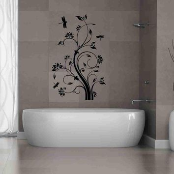 Dragonfly Tendril Wall Decal