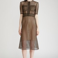 Veronique Leroy Short-Sleeve Net Dress - WOMEN - JUST IN - Veronique Leroy - OPENING CEREMONY