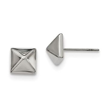Stainless Steel 8mm Spike Stud Post Earrings