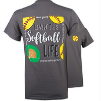 SALE Southern Couture Preppy Softball Life T-Shirt