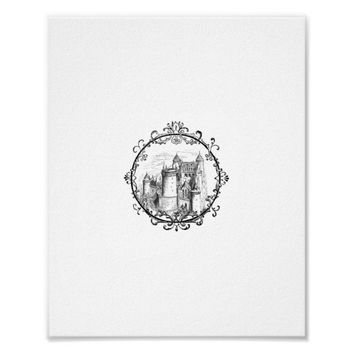 Fairy Tale Castle in Fancy Frame Print