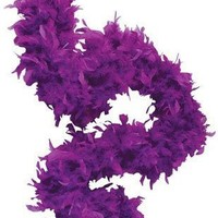 "Deluxe 6' Purple 20s Costume Accessory Feather 72"" Boa"