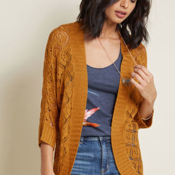 Library, Secondary, Tertiary Cardigan in Topaz