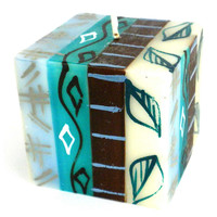 Hand-Painted Cube Candle - Maji Design - Nobunto Candles