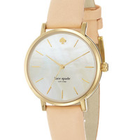 Kate Spade New York Ladies Metro Blush Leather Watch