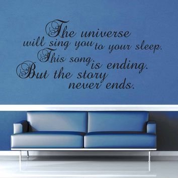 The Universe Will Sing You to Sleep - Doctor Who Quote - Wall Decal$19.95