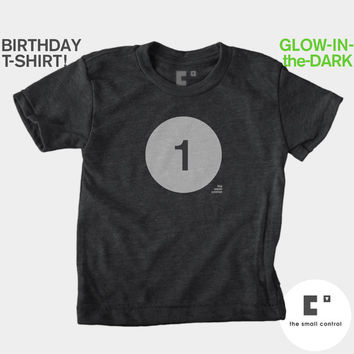 1st First Birthday Shirt (Boys & Girls) Glow-in-the-Dark