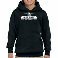 i kissed a beagle  and i liked it 2 Youth Hoodie