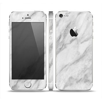 The White Marble Surface Skin Set for the Apple iPhone 5