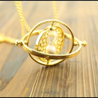 the Hermione Granger  time turner necklace  the harry potter jewelry steampunk vintage style gift idea