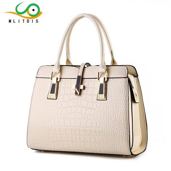 MLITDIS 2017 new light leather bag female crocodile high-grade shoulder bags of western style air bag free shipping solid color