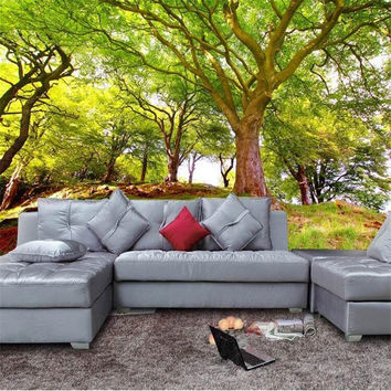 Custom 3D Mural Wallpaper Scenic Woods 3D Stereo Wallpaper Background Paved The Living Room Sofa 3D Photo Wallpaper Painting
