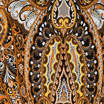 Silky Prints Fabric-Paisley Brown Rayon | JOANN