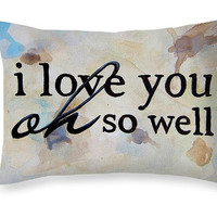 Dave Matthews Band Pillow - I Love You Pillow Valentines Day Gift - Art Pillow Song Lyrics Pillow - Romantic Gift for Him Love Quote Pillow