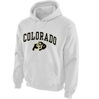 Colorado Buffaloes Midsize Arch Pullover Hoodie - White