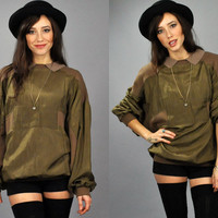 Vtg 1980's NO Jeans Designer Olive ARMY Green by EAMinternational