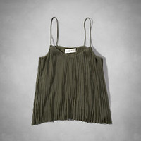 Womens Pleated Cami The Trend Edit | Abercrombie.com
