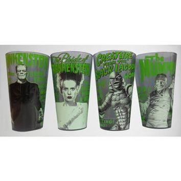Universal Monsters Pint Glass Set 4 Pack