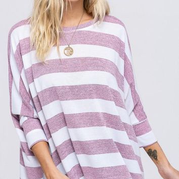 Striped Sweater - Pink