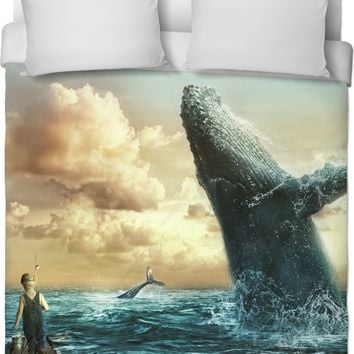 ROB A Whale of a Day Duvet Cover