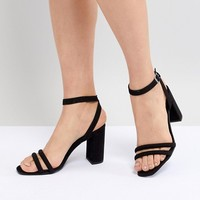 New Look Tube Strap Block Heel Sandal at asos.com