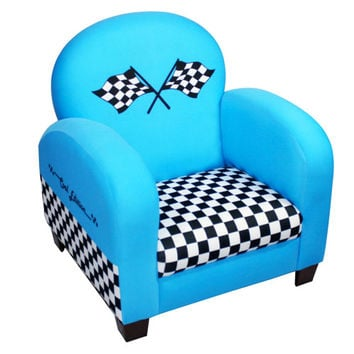 Komfy Kings, Inc 12723 Race Car Blue Chair