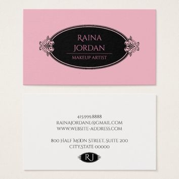 Makeup Artists Business Cards