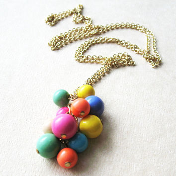 Colorful Beaded Long Strand Necklace - I Want Candy