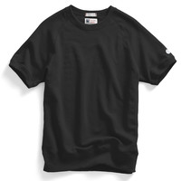Short Sleeve Sweatshirt in Black