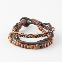 Blue Crown 3 Pack Earth Bracelets Brown One Size For Men 26826040001