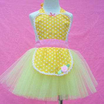 apron BELLE TUTU apron for girls fun for special occasion or birthday party dress up costume