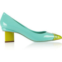 Nicholas Kirkwood Two-tone patent-leather pumps – 60% at THE OUTNET.COM